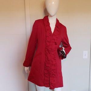INC Brand New Red Dress Coat